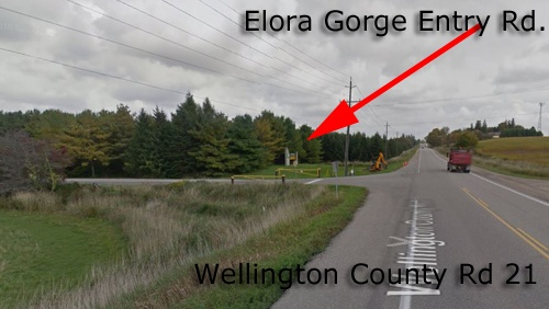 Entrance to Elora Gorge